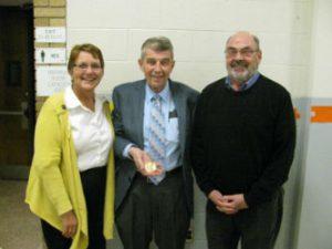 Bob Sullivan receives the Ozanam Award.