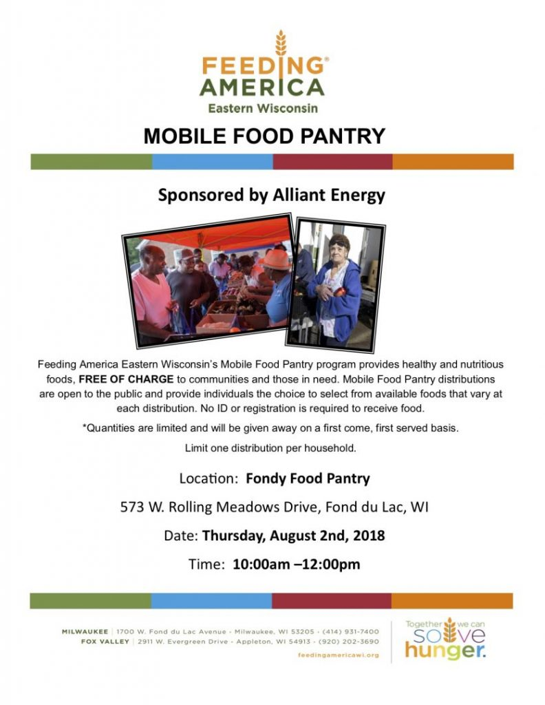 Feeding America: Mobile Food Pantry at the Fondy Food Pantry.