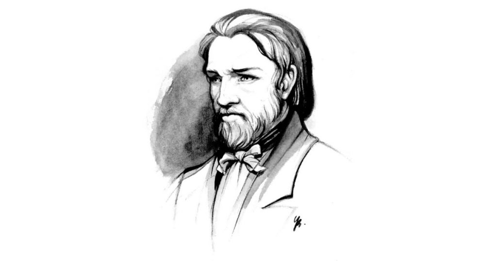 Frederic Ozanam sketch portrait.