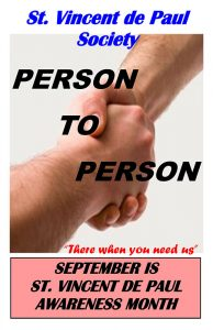 September Awareness 2018 (Week 3) Person to Person poster.