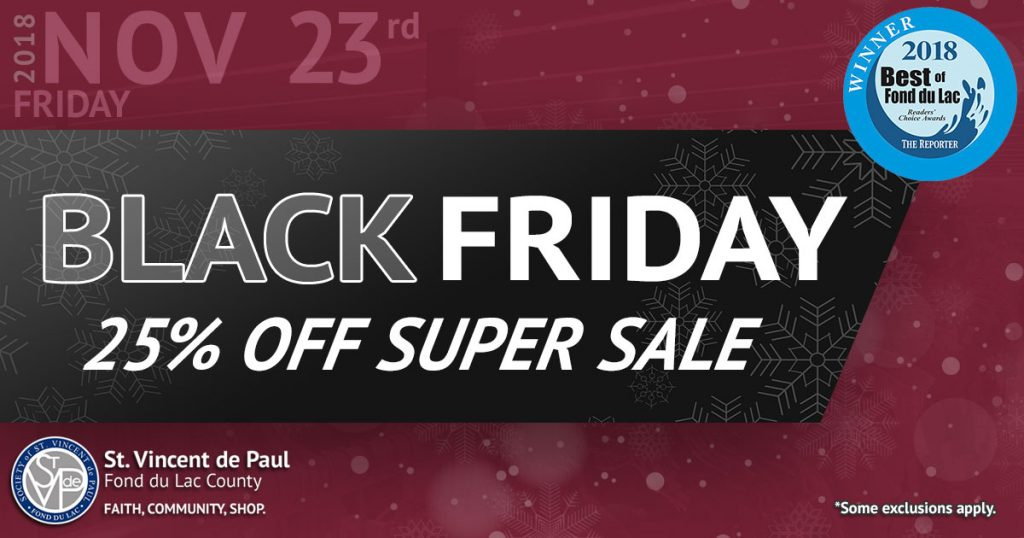 11/23/18: Black Friday 25% Off Super Sale.