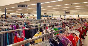 Clothes section at St. Vincent de Paul Fond du Lac.