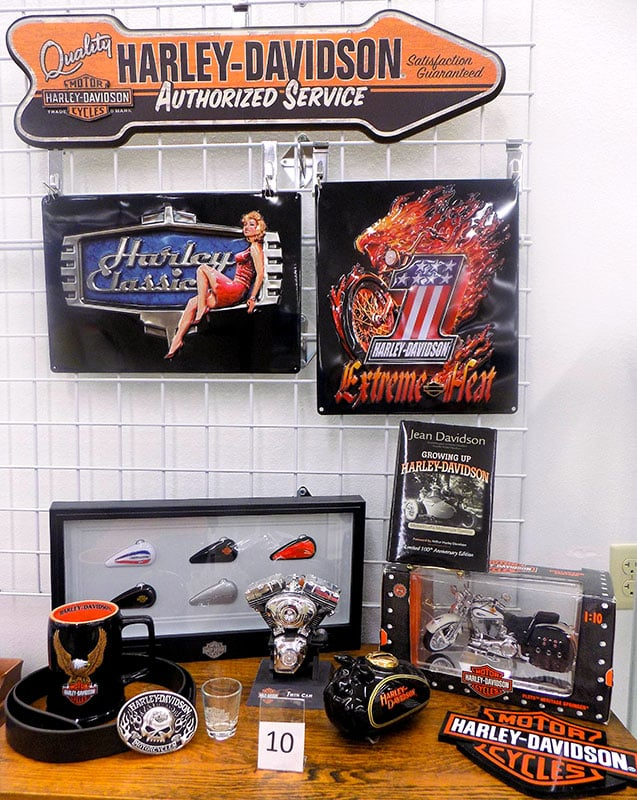 Harley Davidson collector's items.