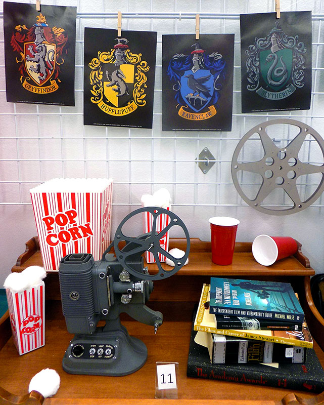 Movie night with vintage 750 DeJUR 8mm projector.
