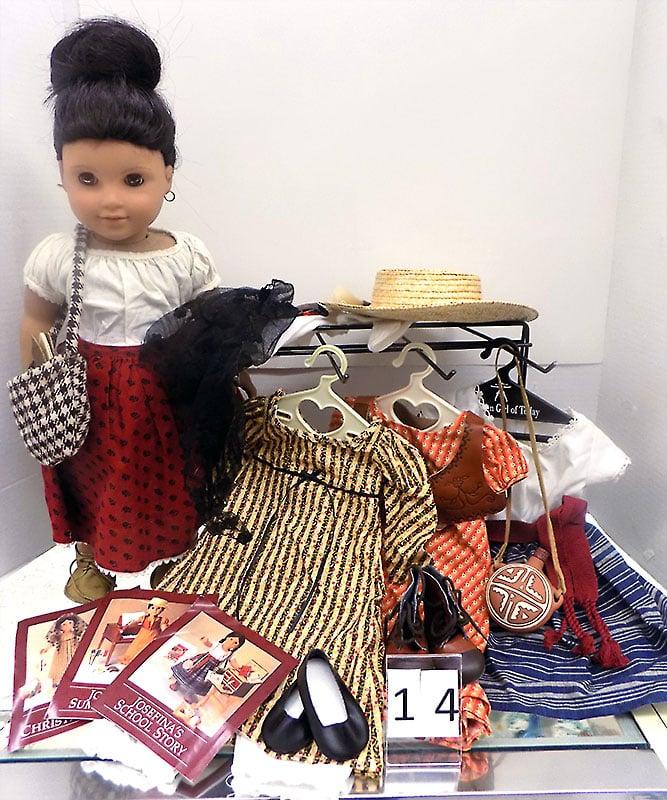 American Girl Josefina with wardrobe.