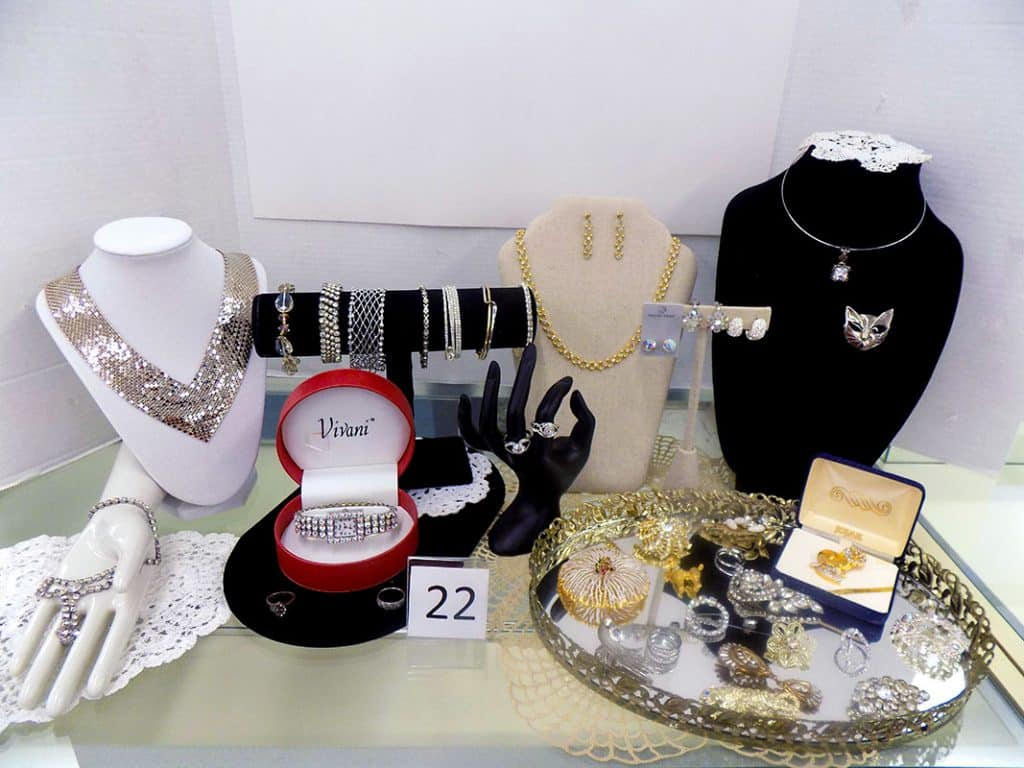 Glamorous women's jewelry collection.