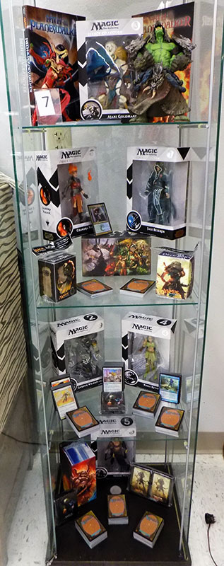 Magic the Gathering cards and figures.