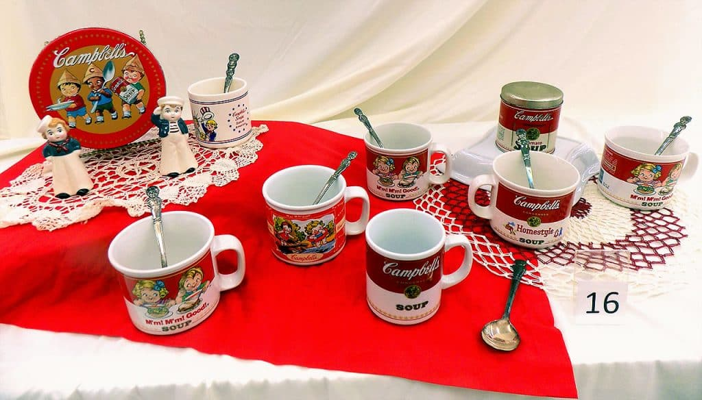 Campbell's Soup Mugs and Spoons collection.
