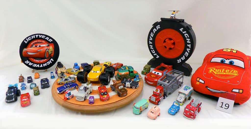 Disney Cars toys collection.