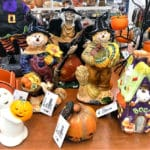 Tabletop Halloween decorations for sale.