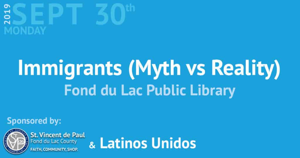 Immigrants (Myth vs Reality) event.