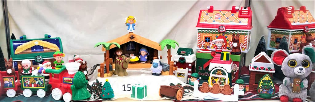Fisher Price Little People toy lot (Christmas themed).