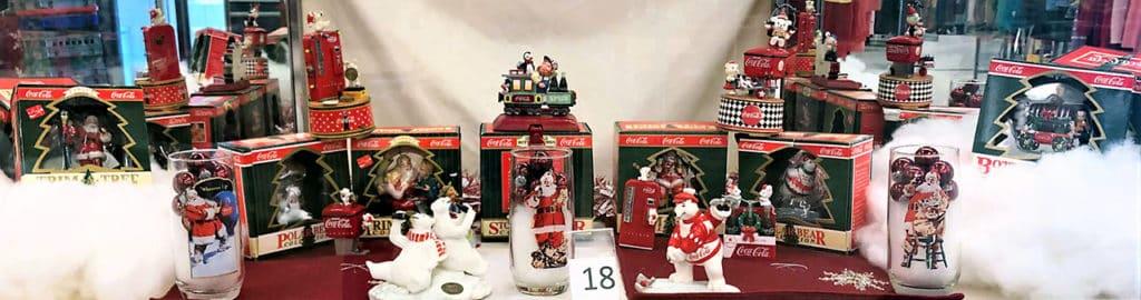 Coca-Cola holiday collectible lot.