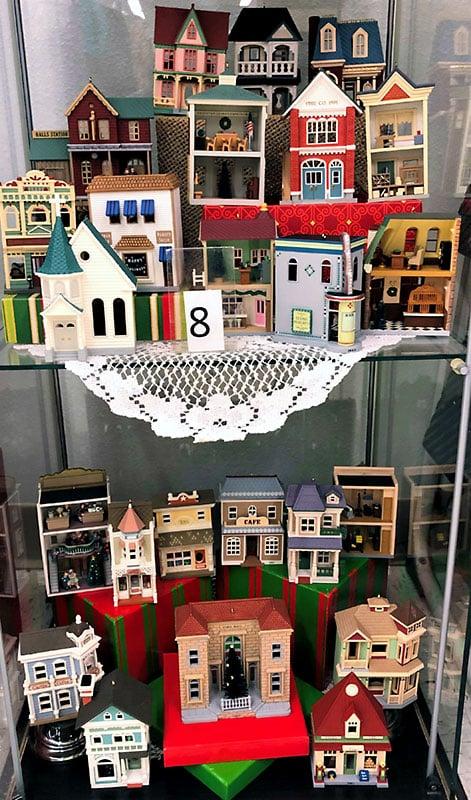 Hallmark Christmas town models.