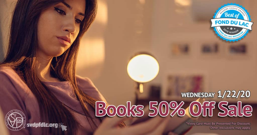 1/22/20: Books 50% Off Sale.