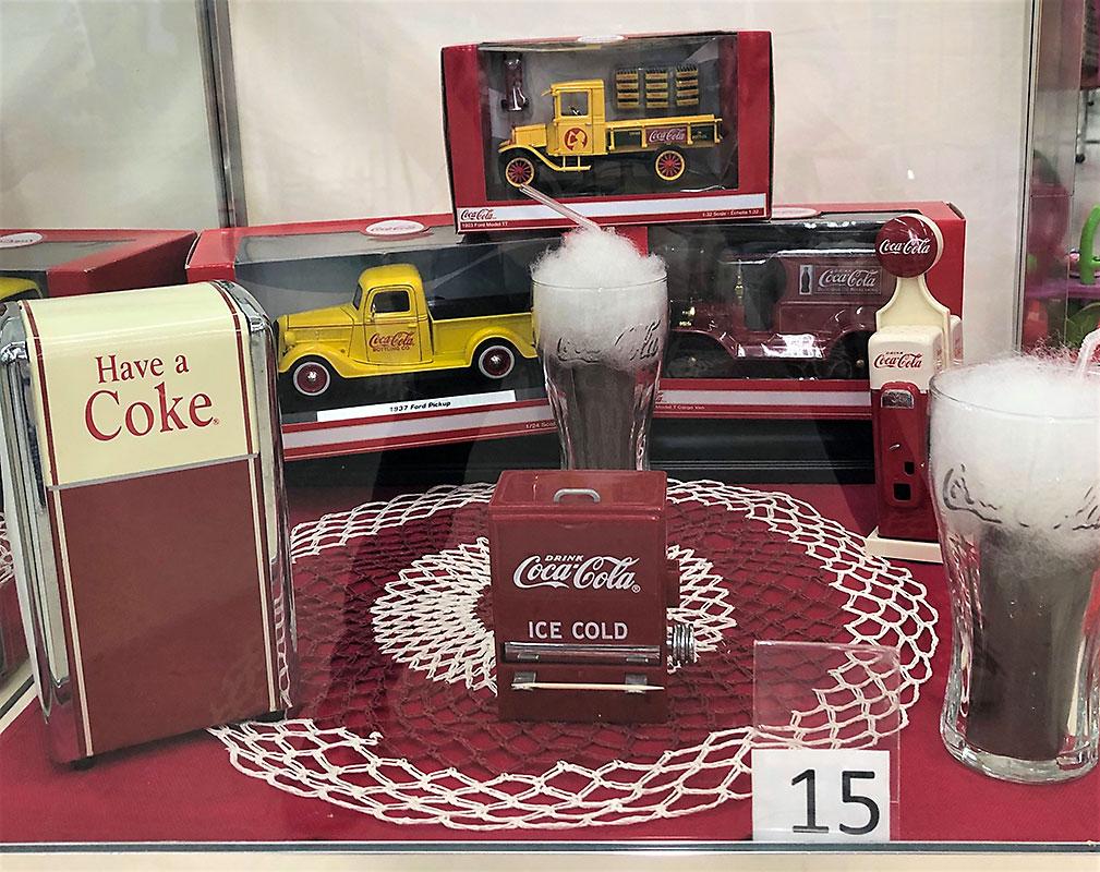 Coca-Cola collectibles.