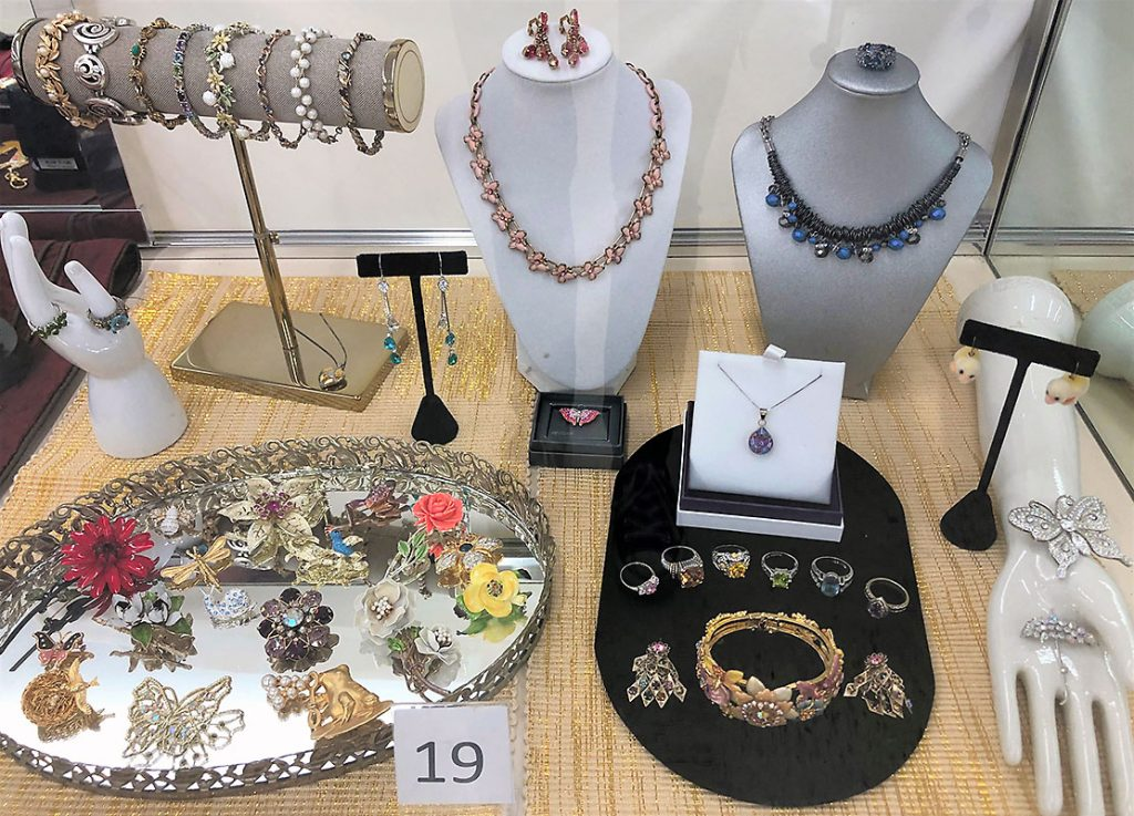 Women's jewelry collection.