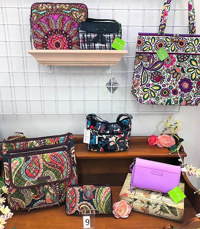 Vera Bradley purse collection.