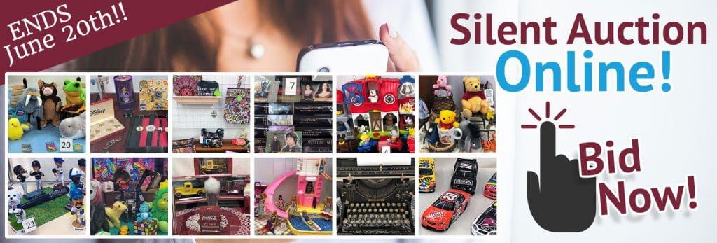 SVDP May - June 2020 Silent Auction. Items brands include Barbie, Lil' Woodzeez, NASCAR, Little People, Underwood, Pyrex, LOTR, TMNT, Playmobil, Coca-Cola, Disney and more!