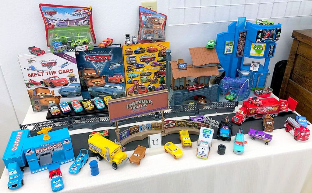Disney Cars toys and books.