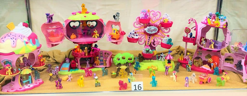 My Little Pony mini figurines and play-sets.