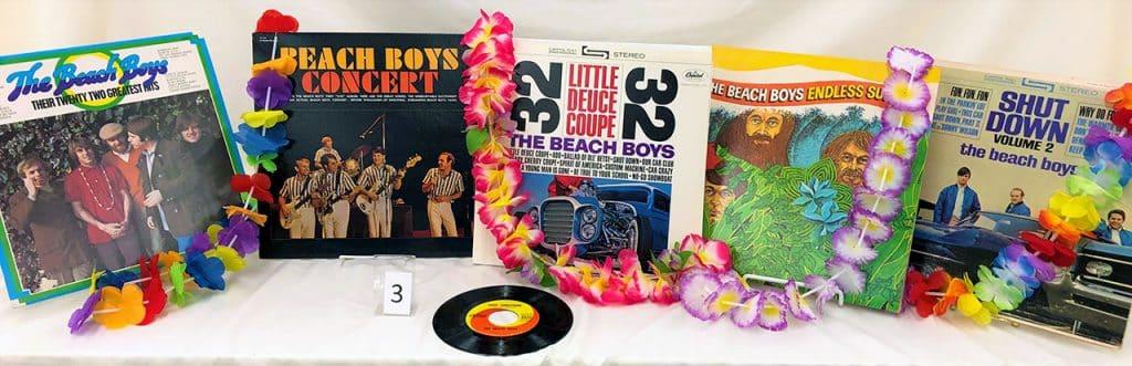 Beach Boys vinyl records.