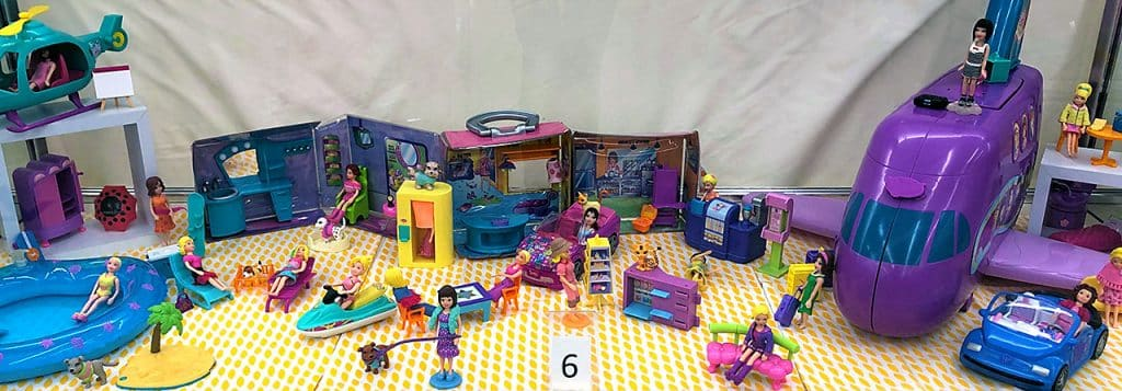 Polly Pocket toy collection.