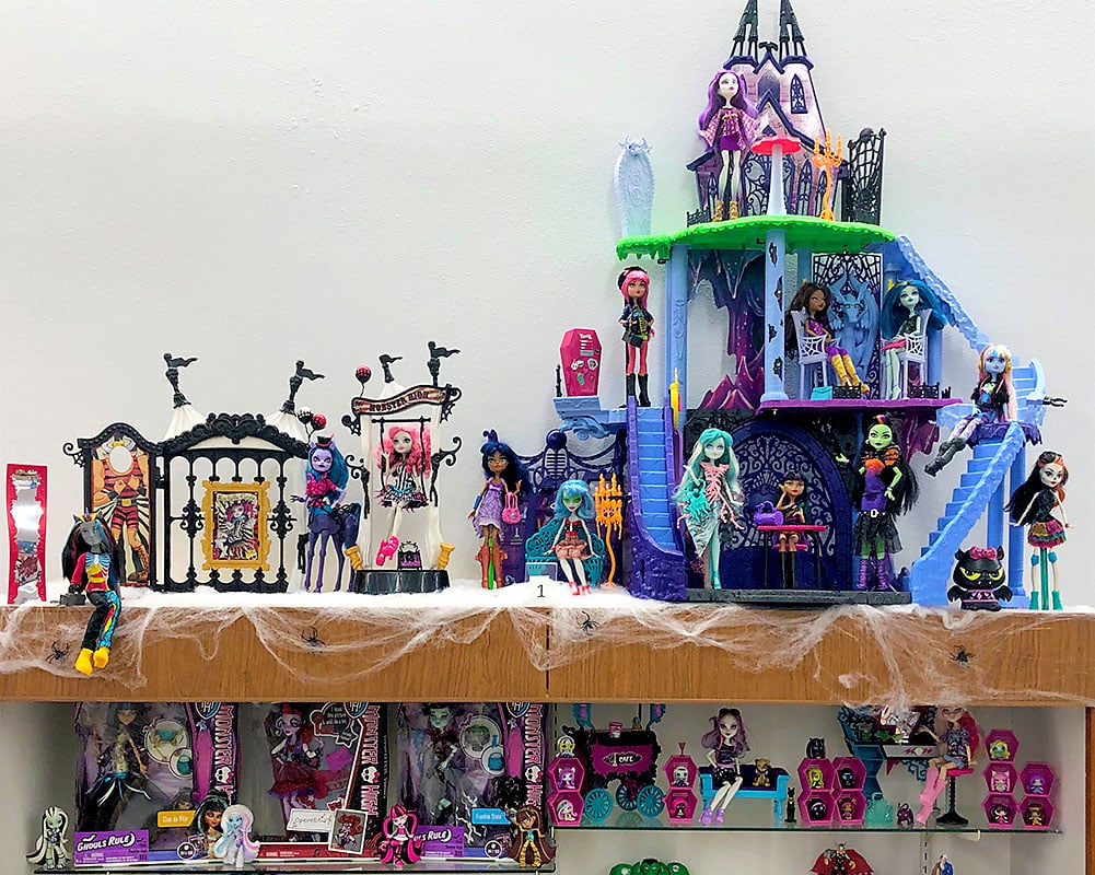 Monster High toy collection.
