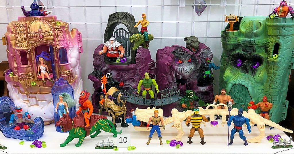 He-Man toy lot and playsets including Castle Grayskull.