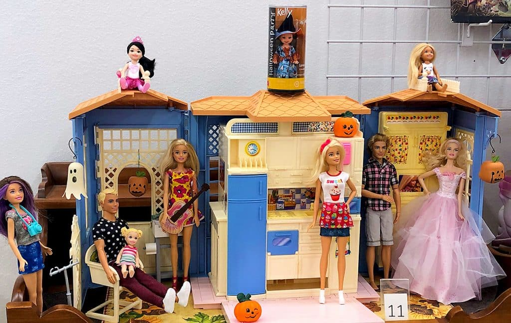 Barbie collection.