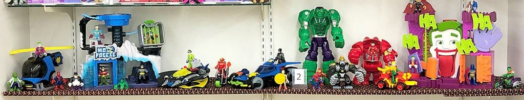 Imaginext Batman and superhero lot.