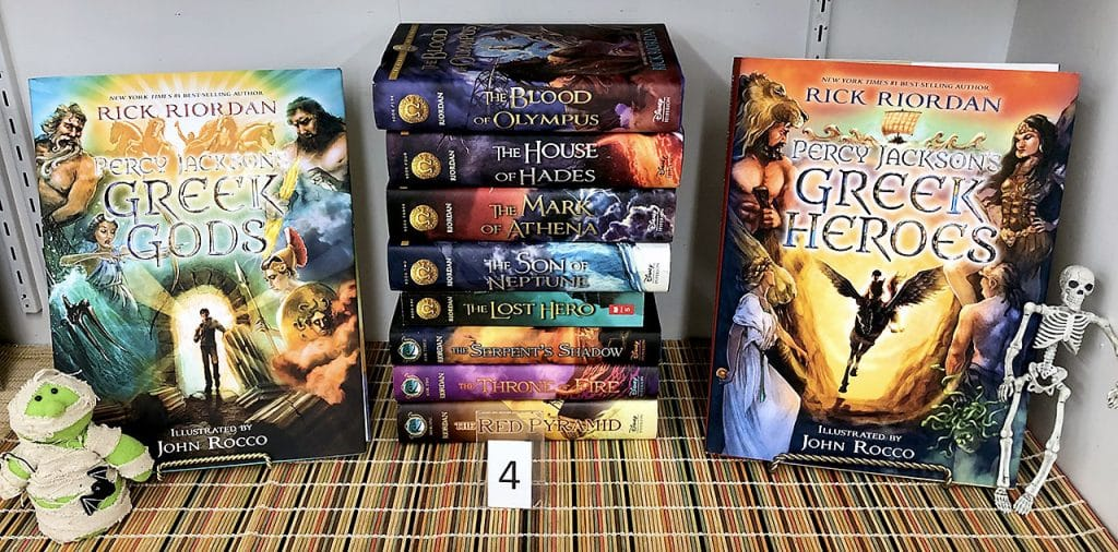Disney illustrated books by Percy Jackson.