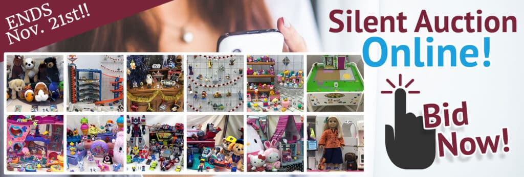 SVDP November 2020 Silent Auction. Items brands include American Girl, TMNT, PEZ, Star Wars, Transformers, Calico Critters, Pokemon, Hallmark, Paw Patrol, Pikmi Pops, Hello Kitty & more!