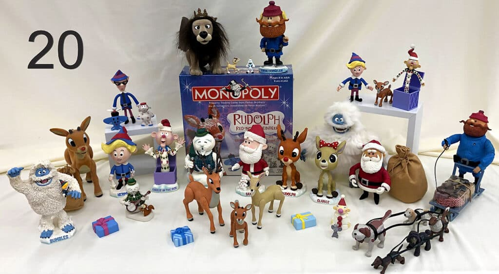 Rudolph the Red Nose Reindeer toys, figures and games.