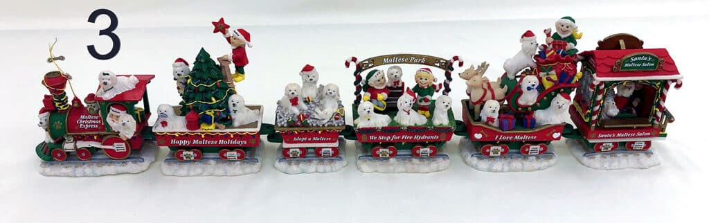 WorthPoint The Maltese Dog Christmas Express Train by The Danbury Mint Collectible - RARE.