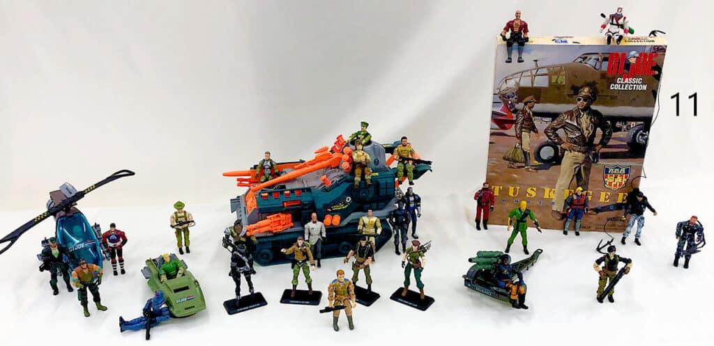 GI Joe action figures.