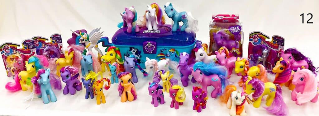 My little pony figures.