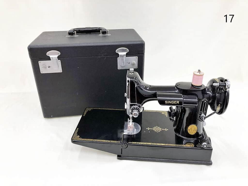 Vintage Singer sewing machine.