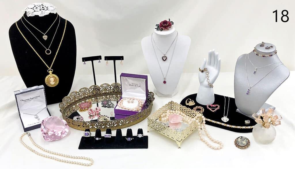Women's jewelry set.