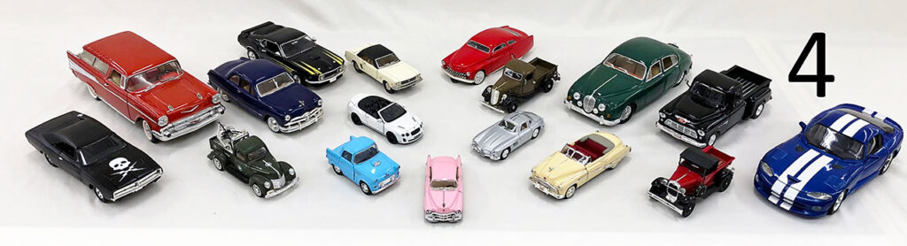 Diecast car collection.