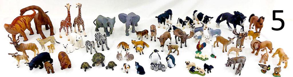 Schleich animals collection.