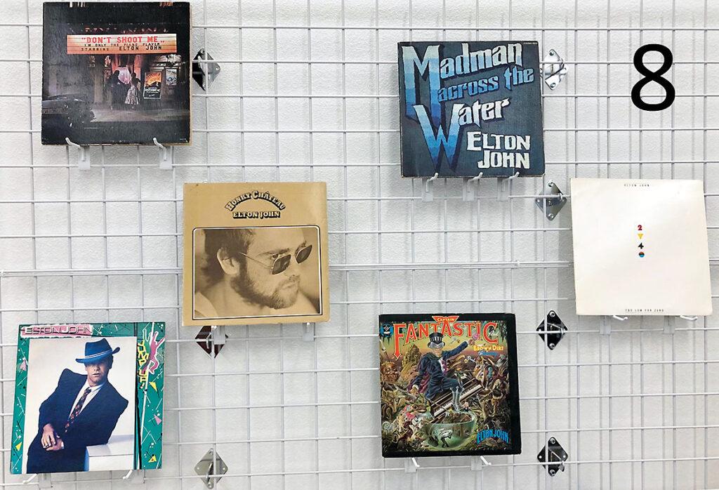 Elton John record collection.