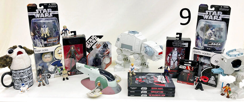 Star Wars collectibles.