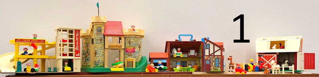 Fisher price toys.
