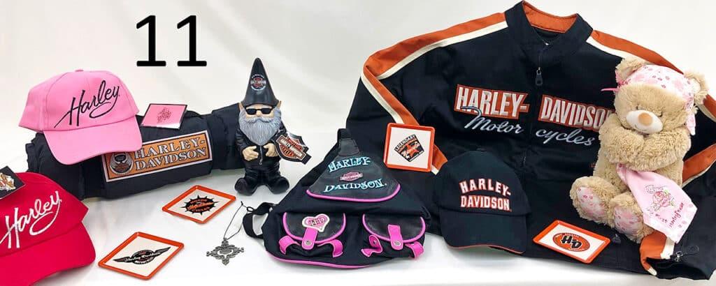 Harley Davidson collectables.