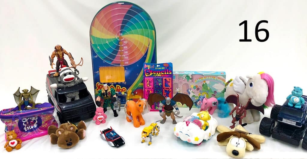 Retro toys and collectibles.