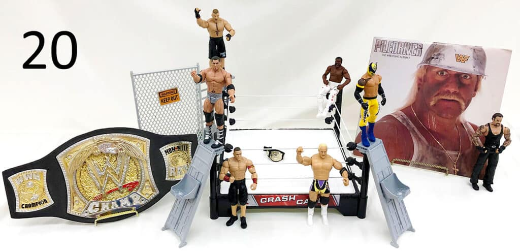 WWE action figures ringside collectibles.