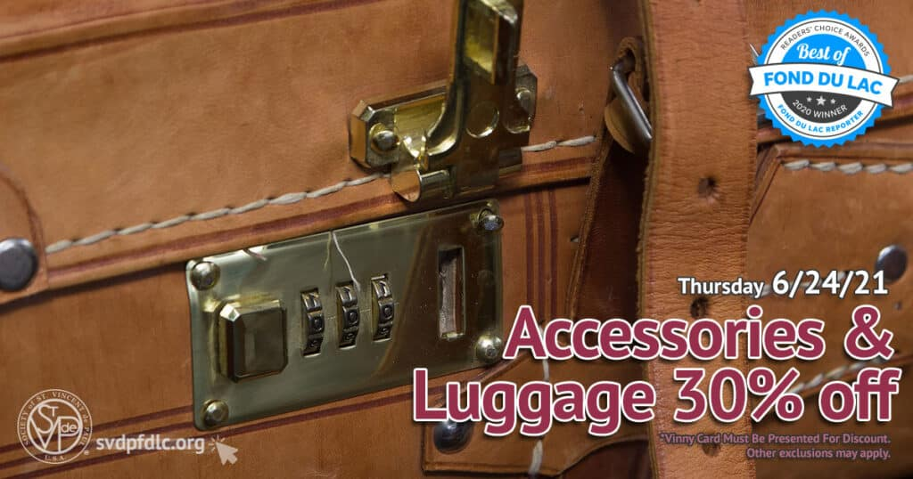 Accessories and Luggage 30 percent off sale. (6/24/2021)