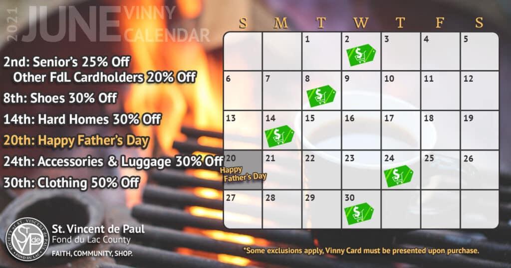 Vinny Card Calendar June 2021