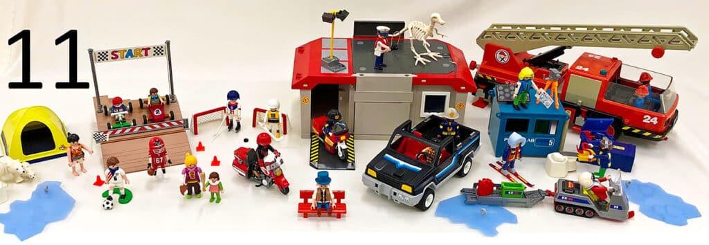 Playmobil toys.